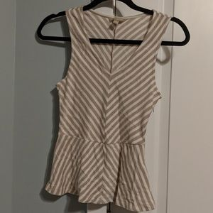 Banana Republic fitted Peplum Tank